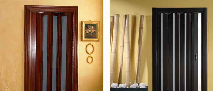Puertas plegables de madera verticolor fabrica estores Cortinas plegables de pvc