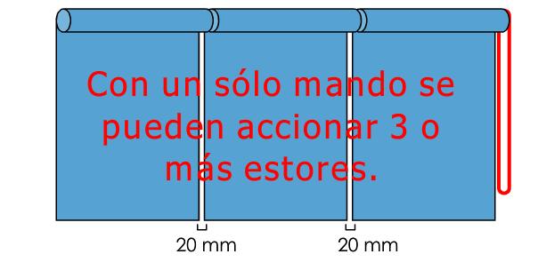 accionamiento azul