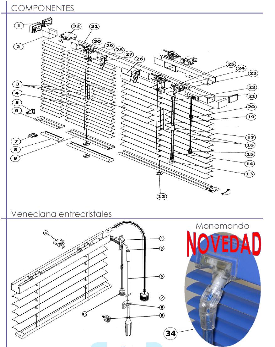 Accionamiento venecianas aluminio