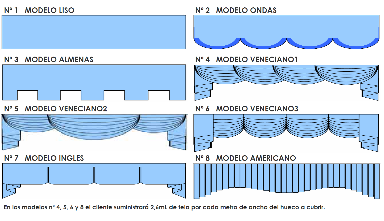 bandos cortinas tradicionales