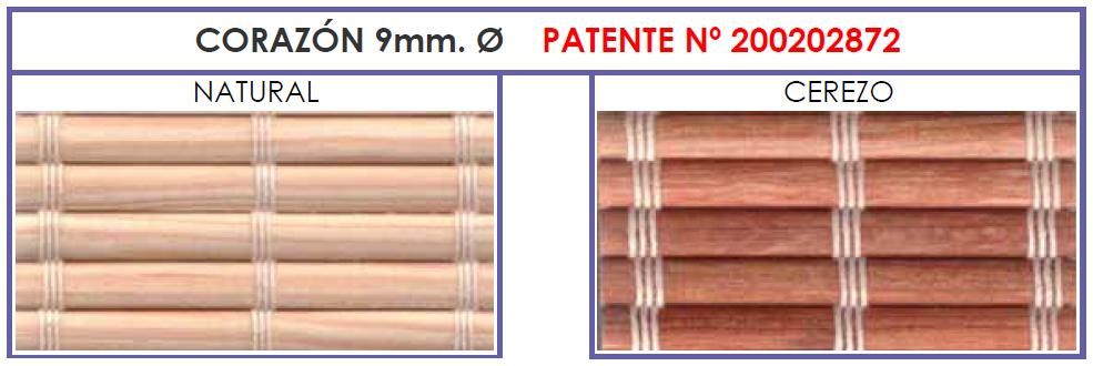 Corazon | Estor de madera patentado por verticolor