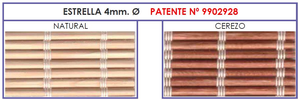 Estrella | Estor de madera patentado por verticolor
