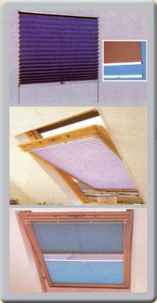 cortinas plisadas con guías