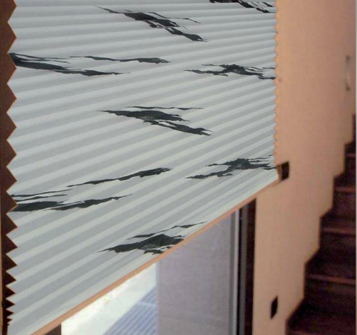 Cortinas plisadas con estampados